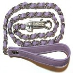 Woven Leather dog lead