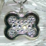 Swarovski Crystal inlay dog id tags