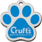 Crufts dog identification tag