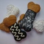 Dog Bone cookies made from natural ingredients