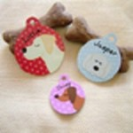 Personalised dog identification tag