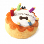 Happy Birthday Cake dog toy