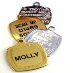 Chrome or Brass Square dog id tag