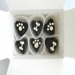 Carob Hearts dog treat