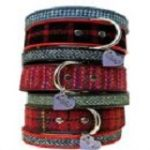 tweed tartan dog collar