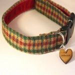 bramble tweed dog collar