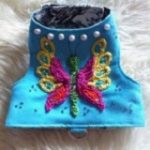 Embroidered dog harness