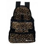 leopard front carrier dog bag