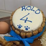 personalised dog birthday cake