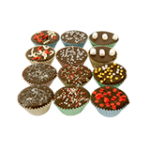 cupcakes with dog milk chocolate