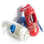 diamond crystal dog poo bag holder